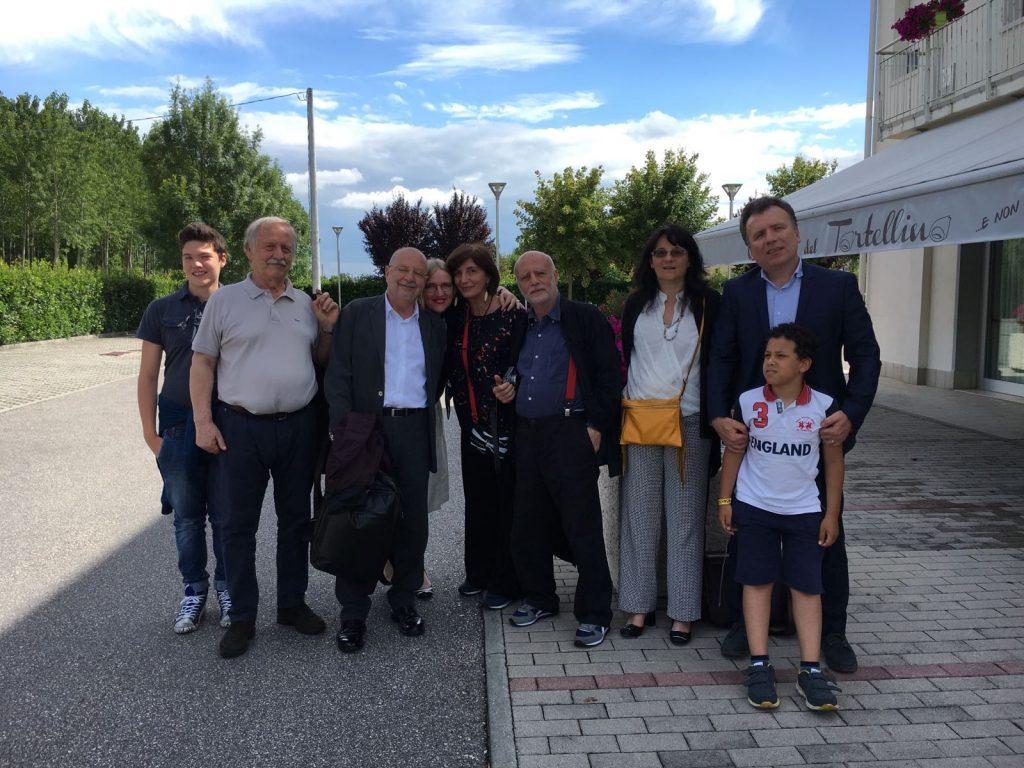 Con Marino Niola, il fotografo Ferdinando Scianna e lo storico del cinema Gian Piero Brunetta, al Festival della memoria di Mirandola 2016