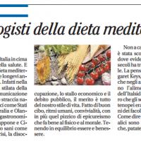 Dieta mediterranea e pedagogisti – il Mattino