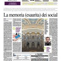 La memoria (esaurita) dei social – Il Mattino