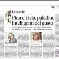 Pina e Livia, paladine intelligenti del gusto – il Mattino