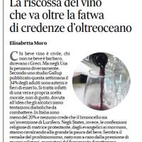 La riscossa del vino che va oltre la fatwa di credenze d'oltreoceano – il Mattino