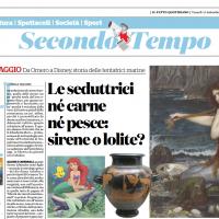 Le seduttrici né carne né pesce: sirene o lolite? – Recensione di Camiglia Tagliabue su Il Fatto Quotidiano