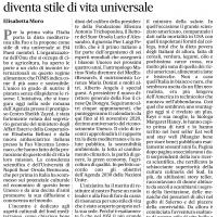 """Il """"premio"""" FAO. La nostra dieta mediterranea diventa stile di vita universale – il Mattino"""