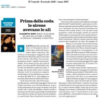 Recensione di Nadia Fusini su il Venerdì di Repubblica