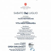 """24 luglio. Convegno """"Vita Mediterranea"""" – Pollica (Salerno)"""