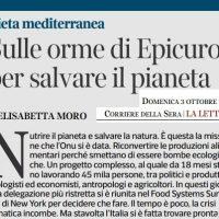 Sulle orme di Epicuro per salvare il pianeta – Corriere della Sera del 3 ottobre 2021